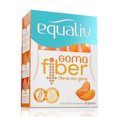 Equaliv Goma Fiber - Caixa Com 15 Gomas