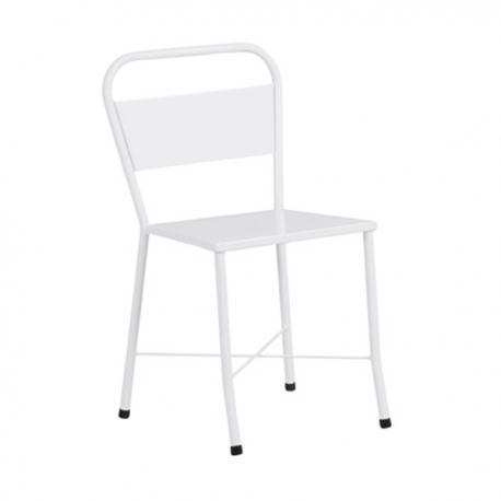 Cadeira de aço simples pintada